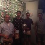 De glorieuze winnaars Broedersz, Bakker en Broedersz.