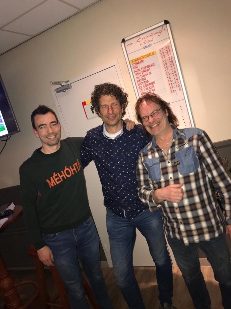 De winnaars van de Quizz 2019; Gerald Broedersz, Niels Bakker en Ted Broedersz.