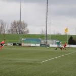 Invaller Dawid Zerek was nog heel dichtbij de beslissende vierde goal.