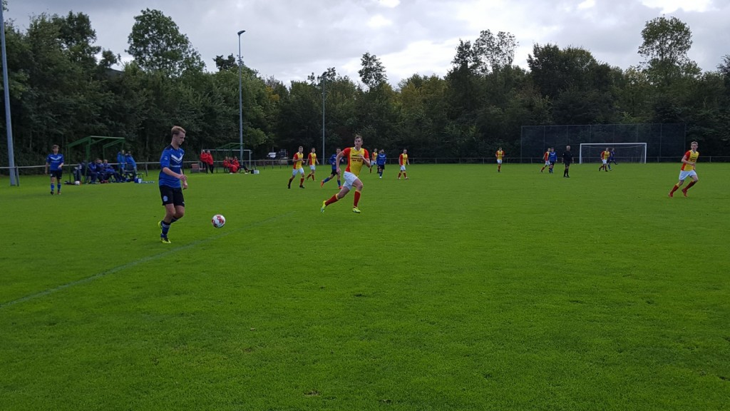 Arjan Koomen werd matchwinner door de enige goal van de wedstrijd te maken.