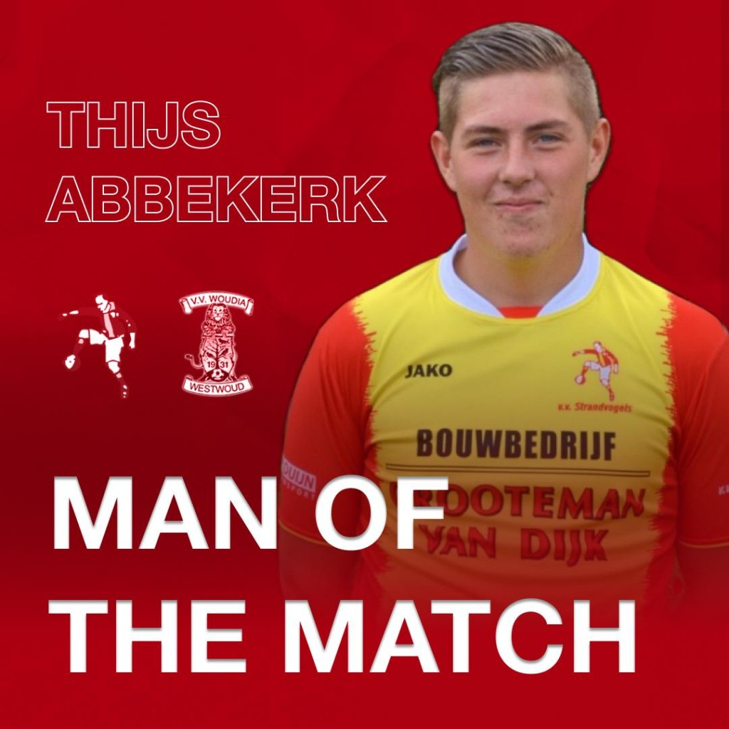 En de man of the match qua spel, Thijs Abbekerk.